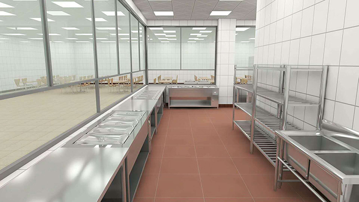 Quy cách và tiêu chuẩn thiết kế nhà bếp trường mầm non