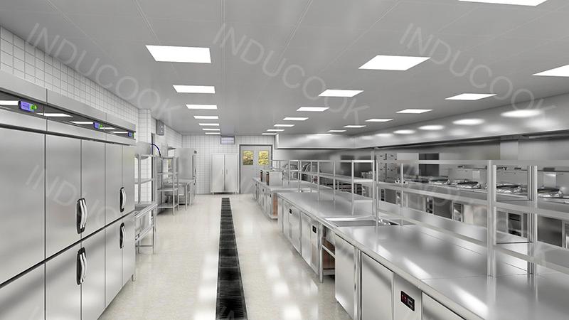 thiết kế mô hình 3D bếp ăn nhà máy